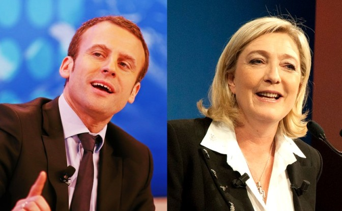 Macron and Le Pen top French Poll