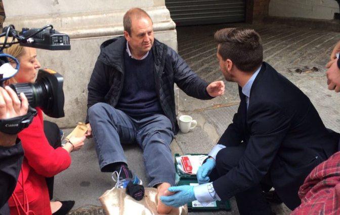 Corbyn Car puts BBC Cameraman on the Back Foot